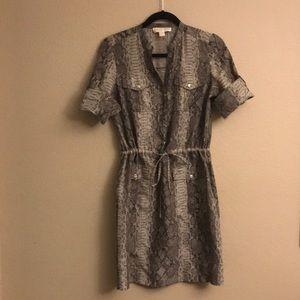 Michael Kore Silk Shirt Dress